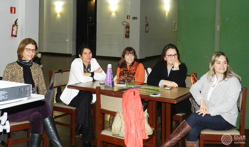 Cristina Ferraz, Viviane Catelan, Rita Carrasco, Lucia Navajas e Renata Britto