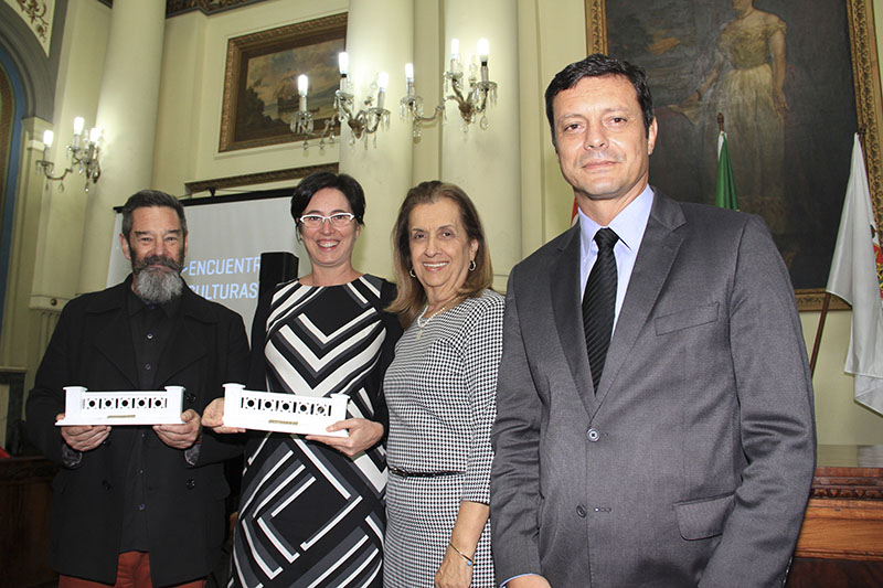 Eduardo Fuhrmann, Mónica Pujol, Da. Maria Ignez Pereira Barbosa e Sr. Rogério Pereira dos Santos