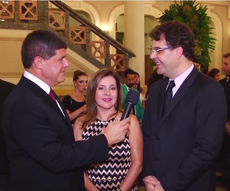 Jornalista JB, Melba Nadais e Sergio Bonito