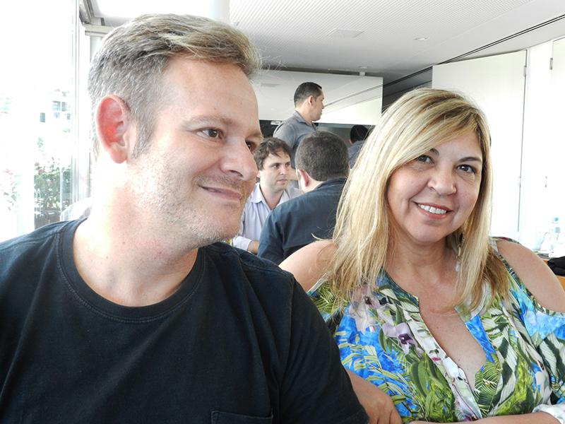 Profissionais almoçam no Bistrô do Museu de Arte do Rio - Felipe Torelli e Sirley Cruz